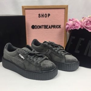 New Fenty Puma Grey Velvet Creepers (Sz: 7.5)